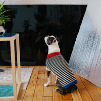 DUSEN DUSEN — Stripe Dog Sweater