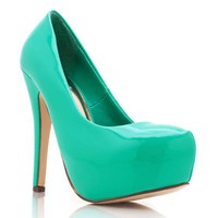 patent-platform-pump BLACK CORAL FUCHSIA HOTPINK SEAGREEN - GoJane.com