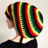 Large/XL Crochet Dreadlocks Rasta Tam
