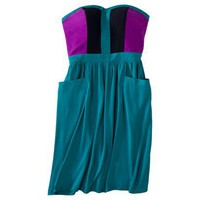 Xhilaration® Juniors Colorblock Zip Dress - Assorted Colors