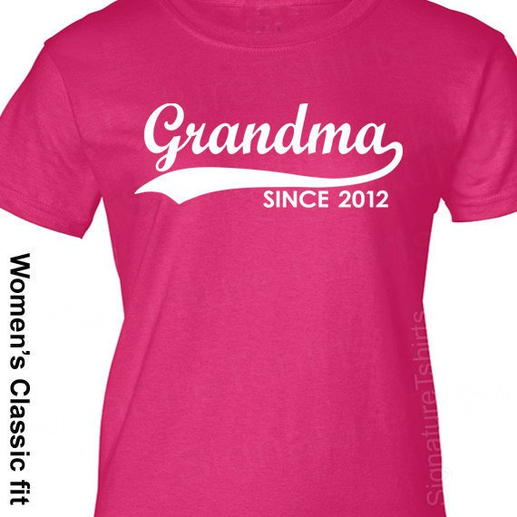 GRANDMA Since 2012 Personalized with Any Year T-Shirt Mother's Day Gift More Colors S-2XL