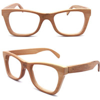 handmade bamboo  eyeglasses glasses frames 1055 c01