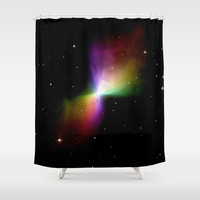Rainbows in Space Shower Curtain by 2sweet4words Designs | Society6
