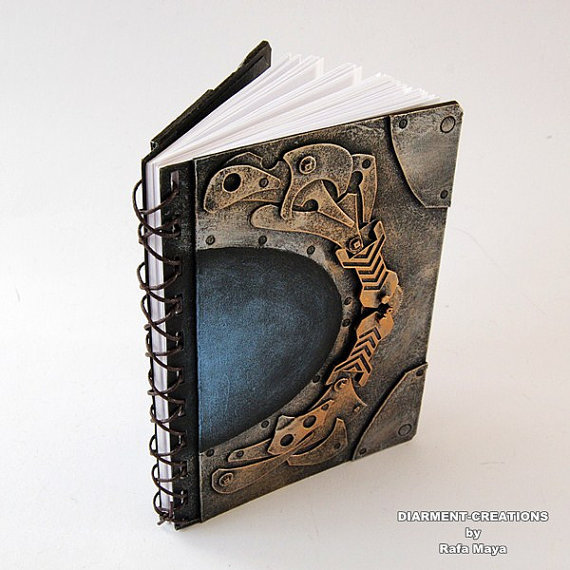 Steampunk Notebook Fantasy Tech 40