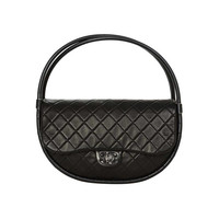 Chanel 2013 Black Quilted Leather Limited Edition Medium Hula Hoop Bag