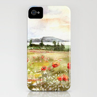 Poppies at the Lake Balaton iPhone Case by Vargamari | Society6