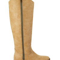 Faux Leather Knee-High Boots