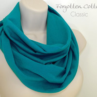 Infinity Scarf Teal Jade Fashion Circle Loop Snood