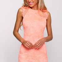 HelloMolly | Just Desserts Dress Neon Orange - Dresses