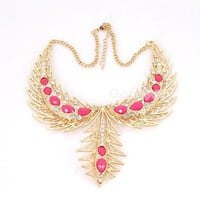 2012 new design Fashion Luxurious Gold Tone Rhinestone Collar Necklace