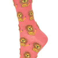 Fluffy Lion Ankle Socks