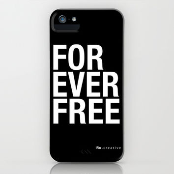 RX - FOREVER FREE - WHITE iPhone & iPod Case by Rx Gear