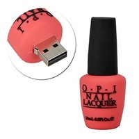Sunworld® Novelty 64GB Rose Nail Polish Bottle Shape USB 2.0 Flash Drive Memory stick Gift USA