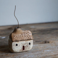 MADE TO ORDER - Miniature Irish cottage - Hand sculpted Clay House - Rustic
