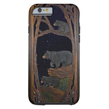Rustic, Mama Bear and Cubs iPhone 6 Case