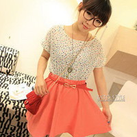 Cute Points Dress with belt_Dresses_Women_MartOfChina.com- wholesale cheap fashion dresses, wholesale lots of cheap clothing.