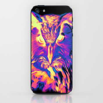 Psychedelic Spectrum Owl iPhone & iPod Skin by 319media | Society6