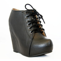 Black JELLO-S Wedge Booties