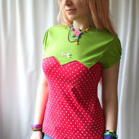 kawaii Strawberry Cutie Pie top custom shirt - handmade to order - smarmyclothes diy
