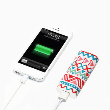Aztec Ethnic Stripes Portable Power Bank Charger for iPhone Samsung | Ac.y.c