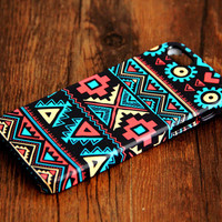 Navajo Aztec Pattern iPhone 6 Plus/6/5S/5C/5/4S/4 3D Wrap Case - iPhone