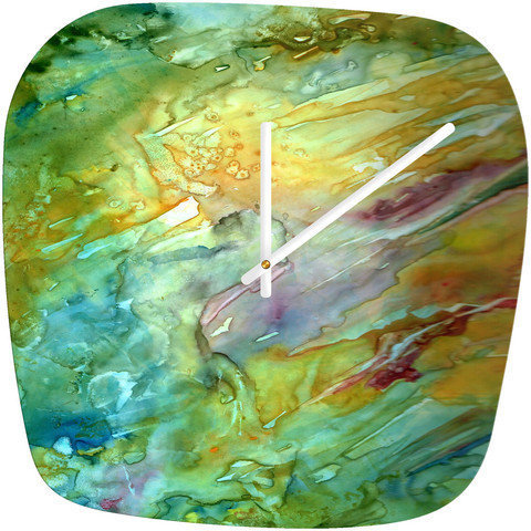 DENY Designs Home Accessories | Rosie Brown Sea Fantasy Modern Clock