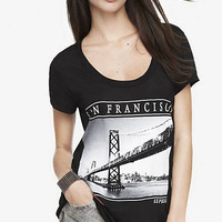 SCOOP NECK GRAPHIC TEE - SAN FRANCISCO PHOTO from EXPRESS