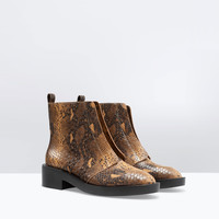 Printed bootie
