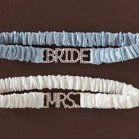 Unveiled Bridal | Stylish Wedding Essentials and Accessories. Bride &amp; Mrs. Garter Set