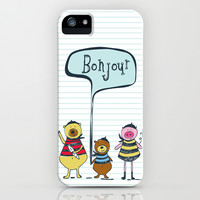 Bonjour Ami iPhone & iPod Case by Heather Dutton