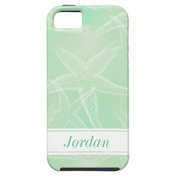 Starfish Green Personalized Beach iPhone 6 Case