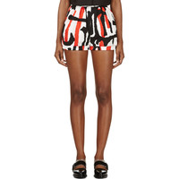 Red & White Printed Cotton Shorts41148F118007