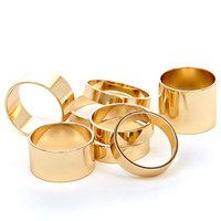 Prudence Stack Ring Set in Gold