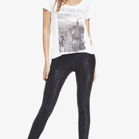 FOILED LEOPARD PRINT SEXY STRETCH LEGGING from EXPRESS