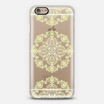 Yellow & White Lace Mandalas - Transparent iPhone 6 case by Micklyn Le Feuvre | Casetify