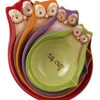 Owl Stacking Measuring Cups Set Of 4 | zulily