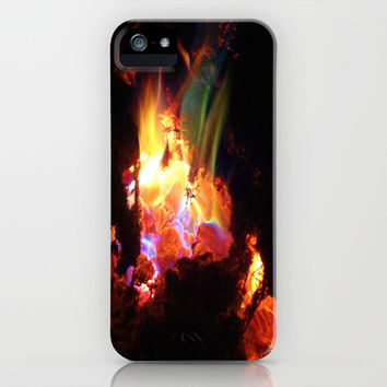 Colorful Fire #3 iPhone & iPod Case by 2sweet4words Designs | Society6