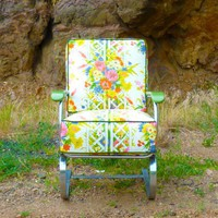 Lloyd Loom Chrome Art Deco Rocker by Vintage Renewal | Vintage Renewal