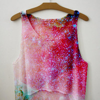 Galaxy Crop top | fresh-tops.com