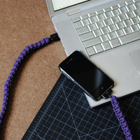 Purple iPhone Paracord Cable