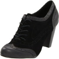 Wanted Shoes Women`s Astoria Oxford Pump,Black,10 M US