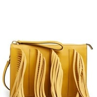 Marni Leather Fringe Clutch | Nordstrom