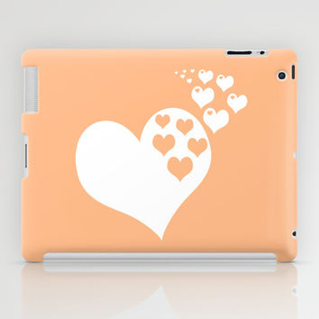 Peach Orange Hearts of Love iPad Case by BeautifulHomes