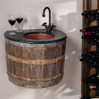 Bathroom Furniture Made Of Old Wine Barrels | DigsDigs
