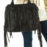 All About The Fringe Purse: Black