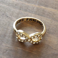 best friend infinity ring - one ring / gold