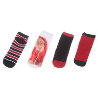 Hoodie Kitty Photo Ankle Sock Set | Wet Seal