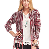 Boho Fringe Open Cardi | Wet Seal