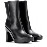 Pads leather ankle boots