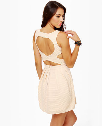 Heartland Cutout Cream Dress